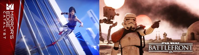 Action игра Mirrors Edge: catalyst и онлайн шутер Star Wars battlefront